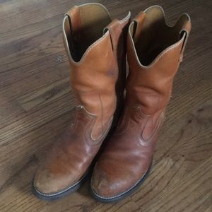 Leather Western boots size men's 7.5